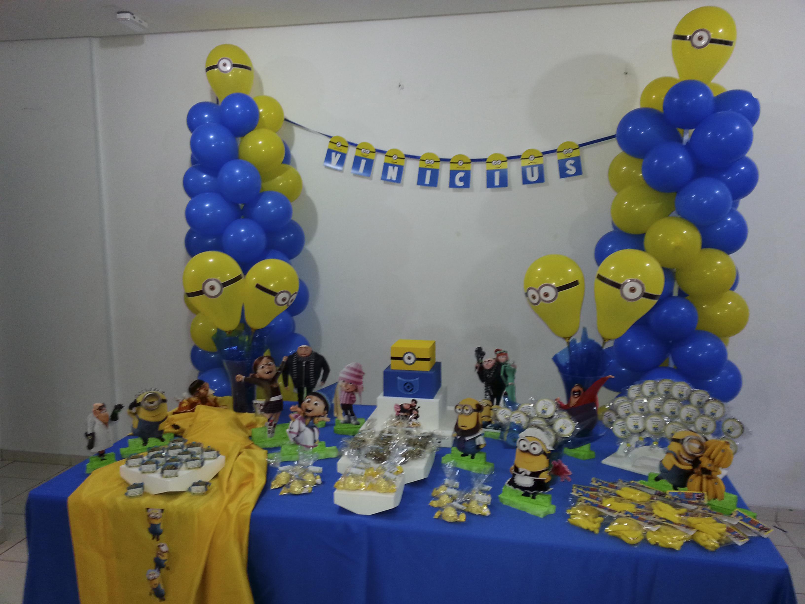 Decoração dos minions simples balões