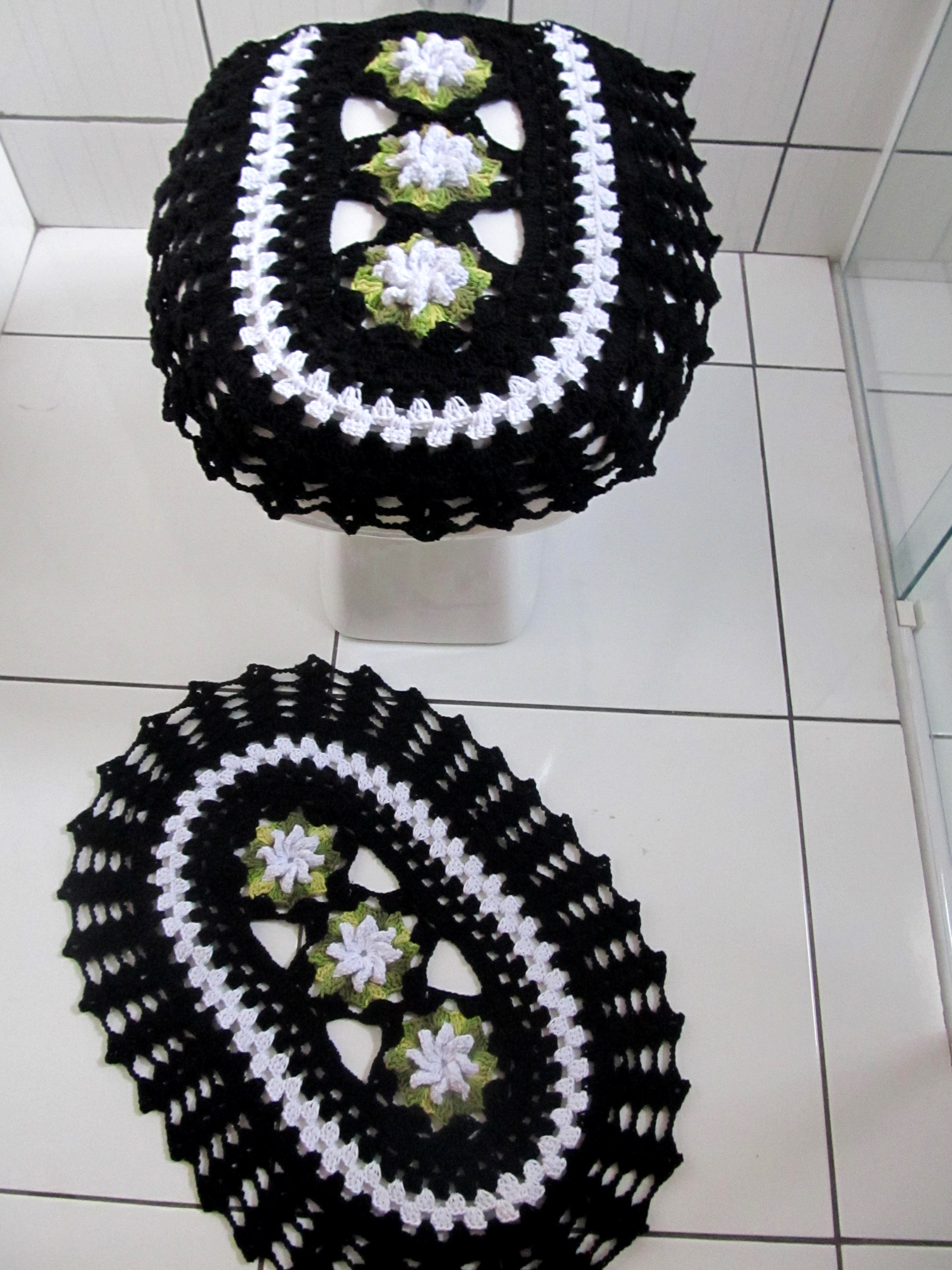 preto e branco jogo de banheiro jogo de banheiro 3 pcs preto e branco  #6D7445 3000x4000 Banheiro Branco E Preto