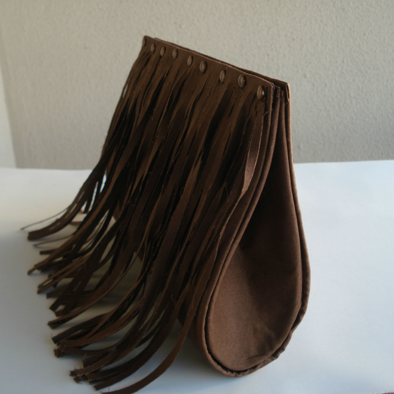 Bolsa De Mão Artesanal Passo A Passo : Bolsa beatrice com franja tecido carla artesanato