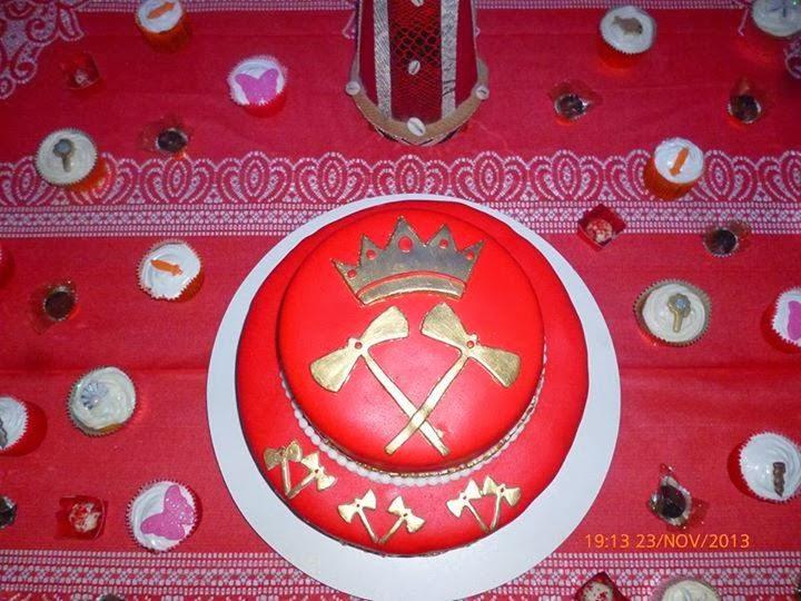 decoracao festa xango:Bolo Dois Andares – Tema Xangô