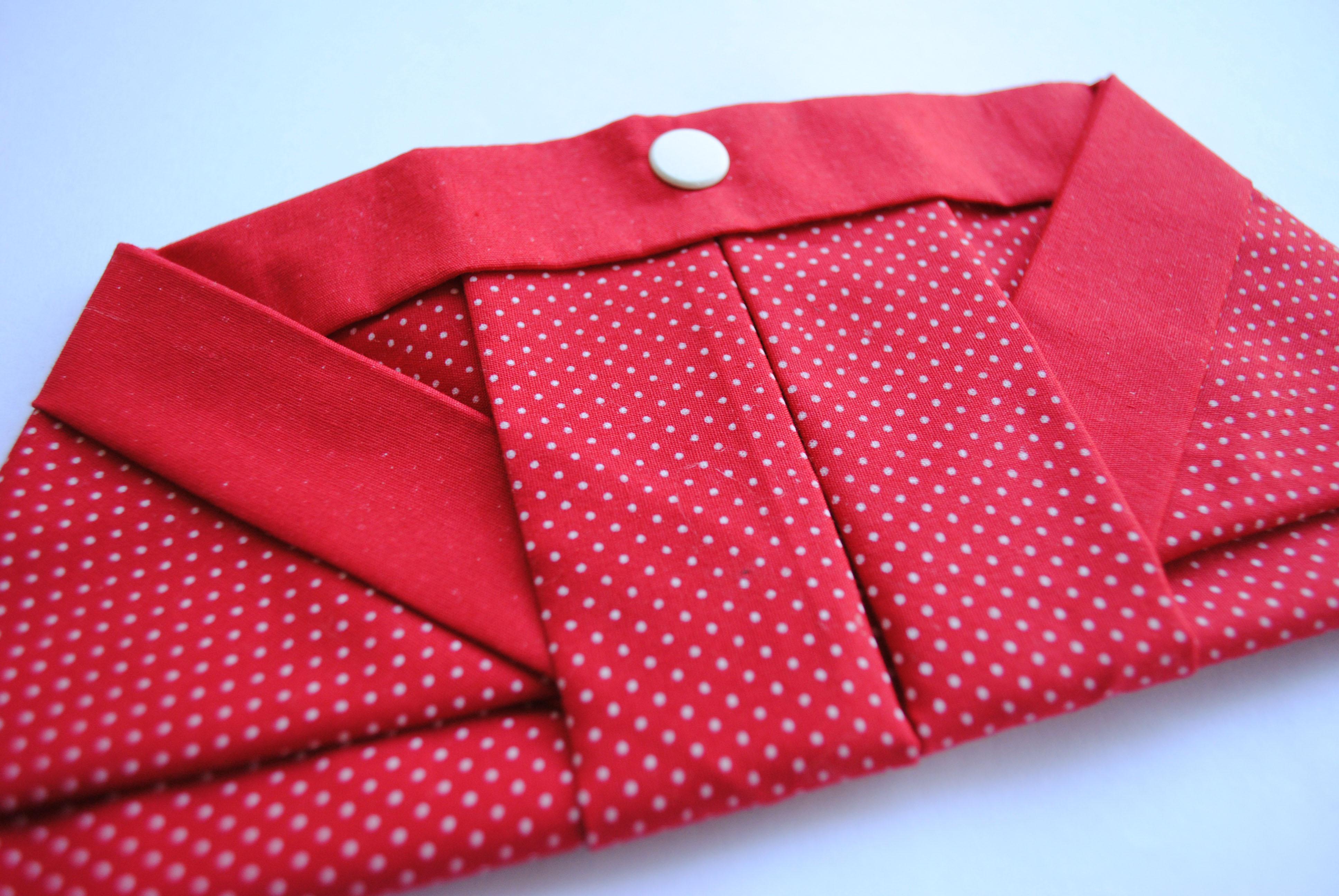 Bolsa Em Origami De Tecido : Porta ?culos em tecido perolice elo