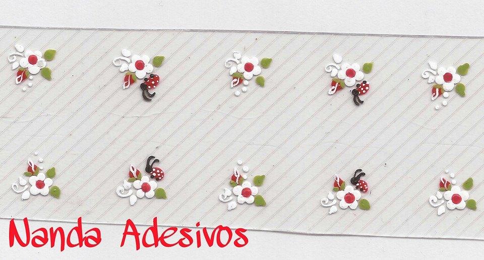 Artesanato Recife Antigo ~ Adesivo Joaninha Cód A157 Nanda Adesivos Decorativos Para Unhas Elo7