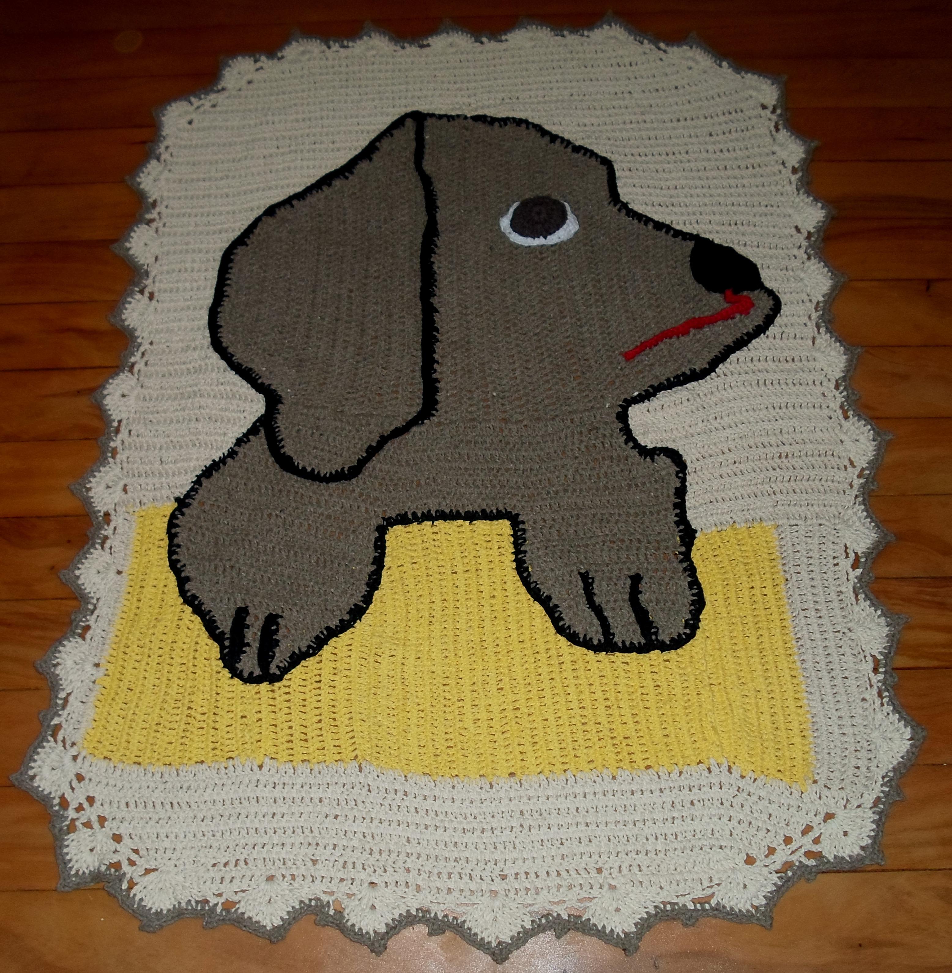 tapete de croche cachorro Diva Elo7 #663B18 3112 3179