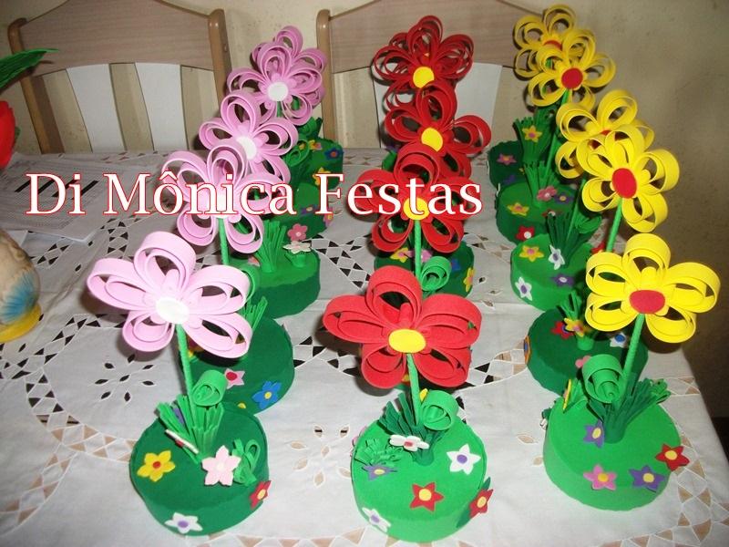 enfeites para festa infantil jardim encantado:enfeite de mesa jardim encantado aniversarios e festas enfeite de