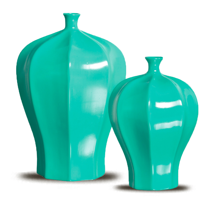 Vasos decorativos verde acqua felicitadecor elo7 for Objetos decorativos casa