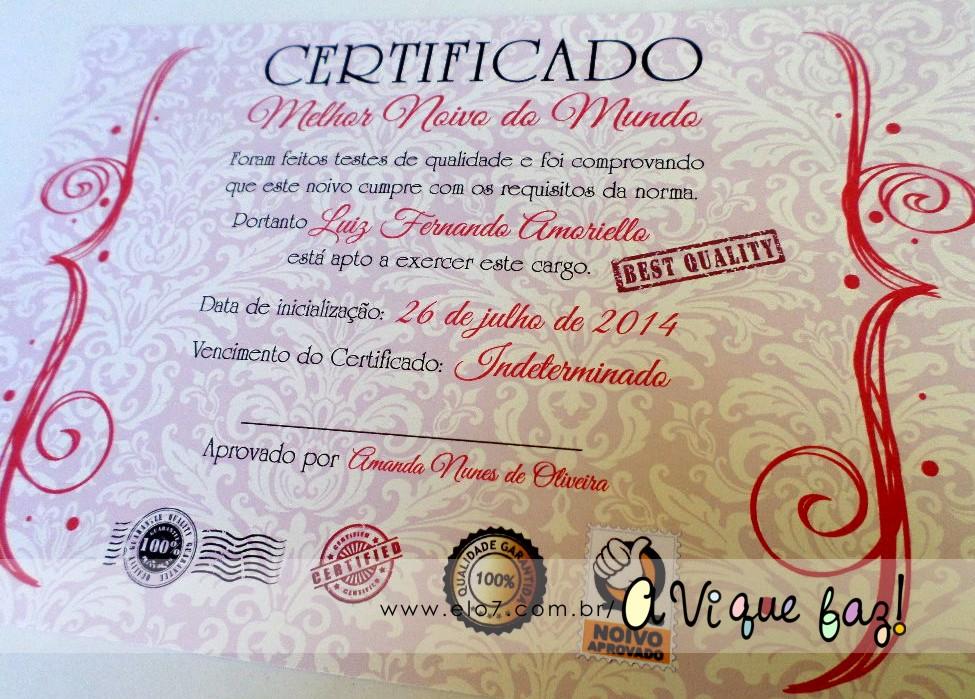 Diploma de melhor namorado