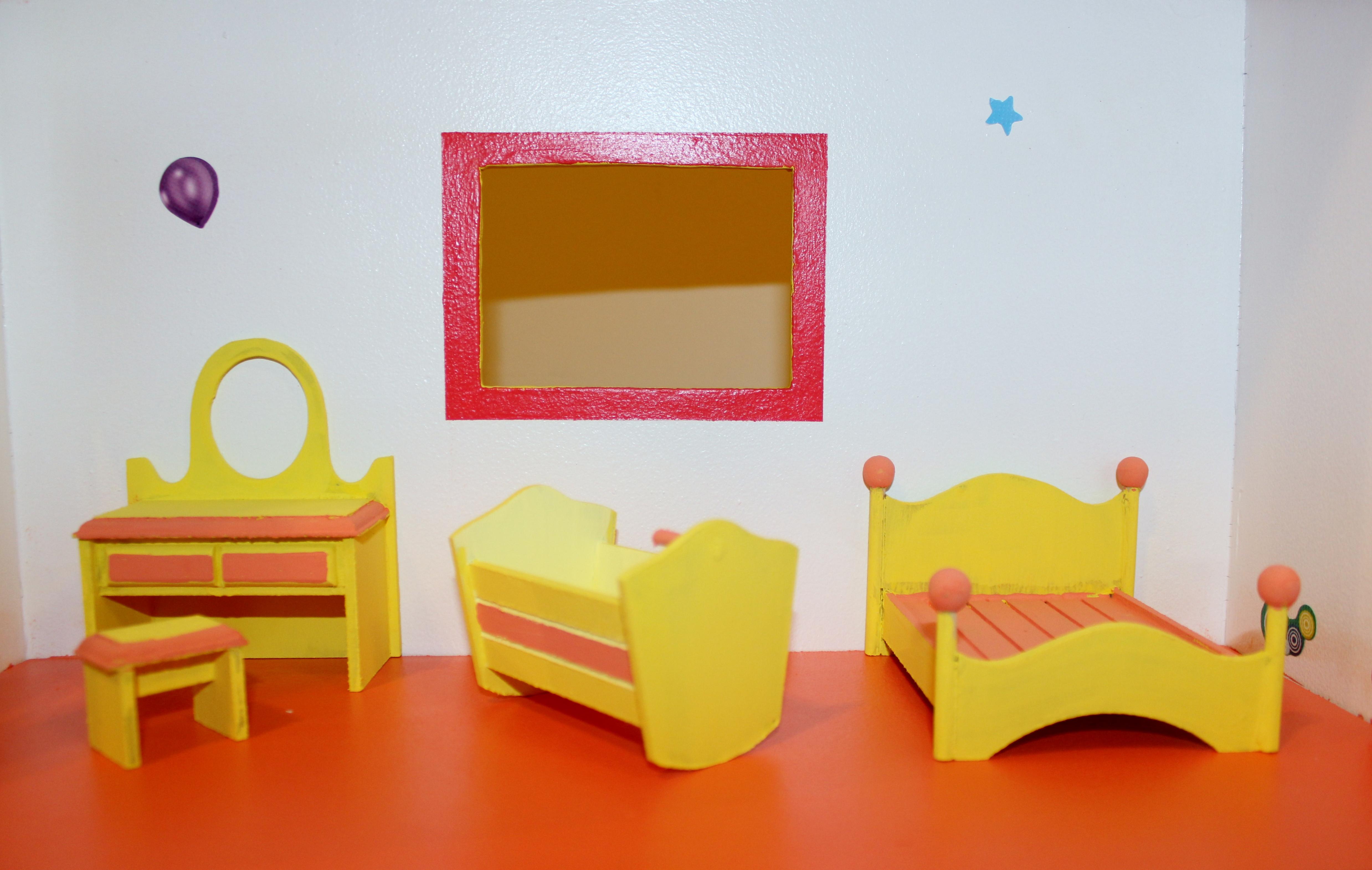 Quarto casinha boneca miniatura Brinquedos Lara Elo7 #9B5D05 4954x3140