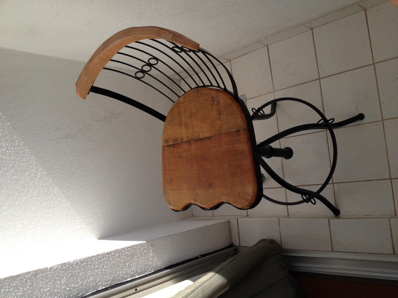 Banco de ferro e madeira Nossa Casa Arte e Decorações Elo7 #6D432B 1632x1224