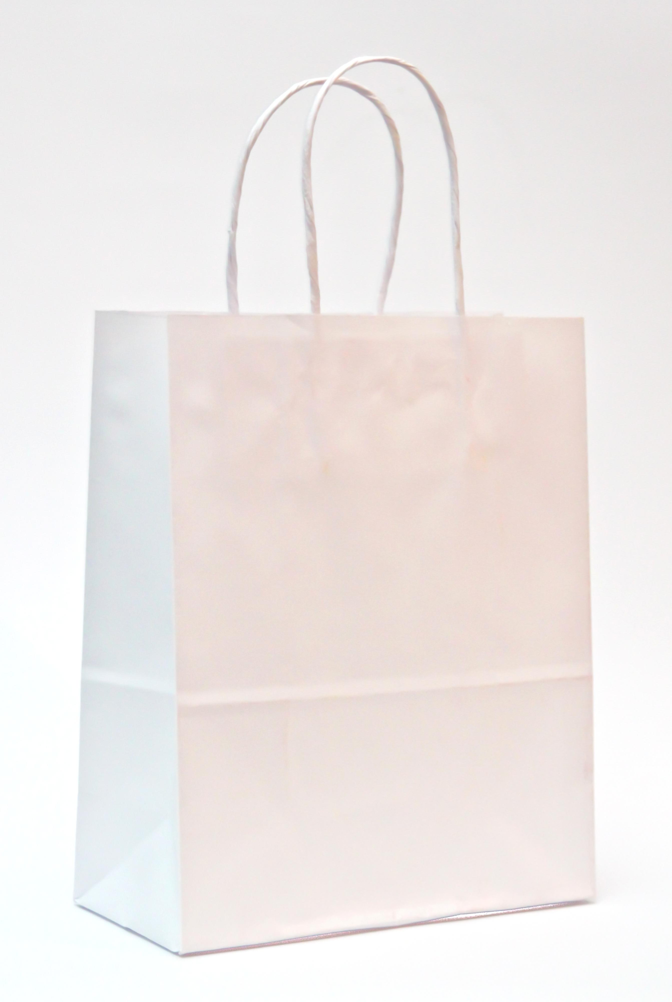 Bolsa De Festa Branca : Sacola de papel branca l e embalagens elo