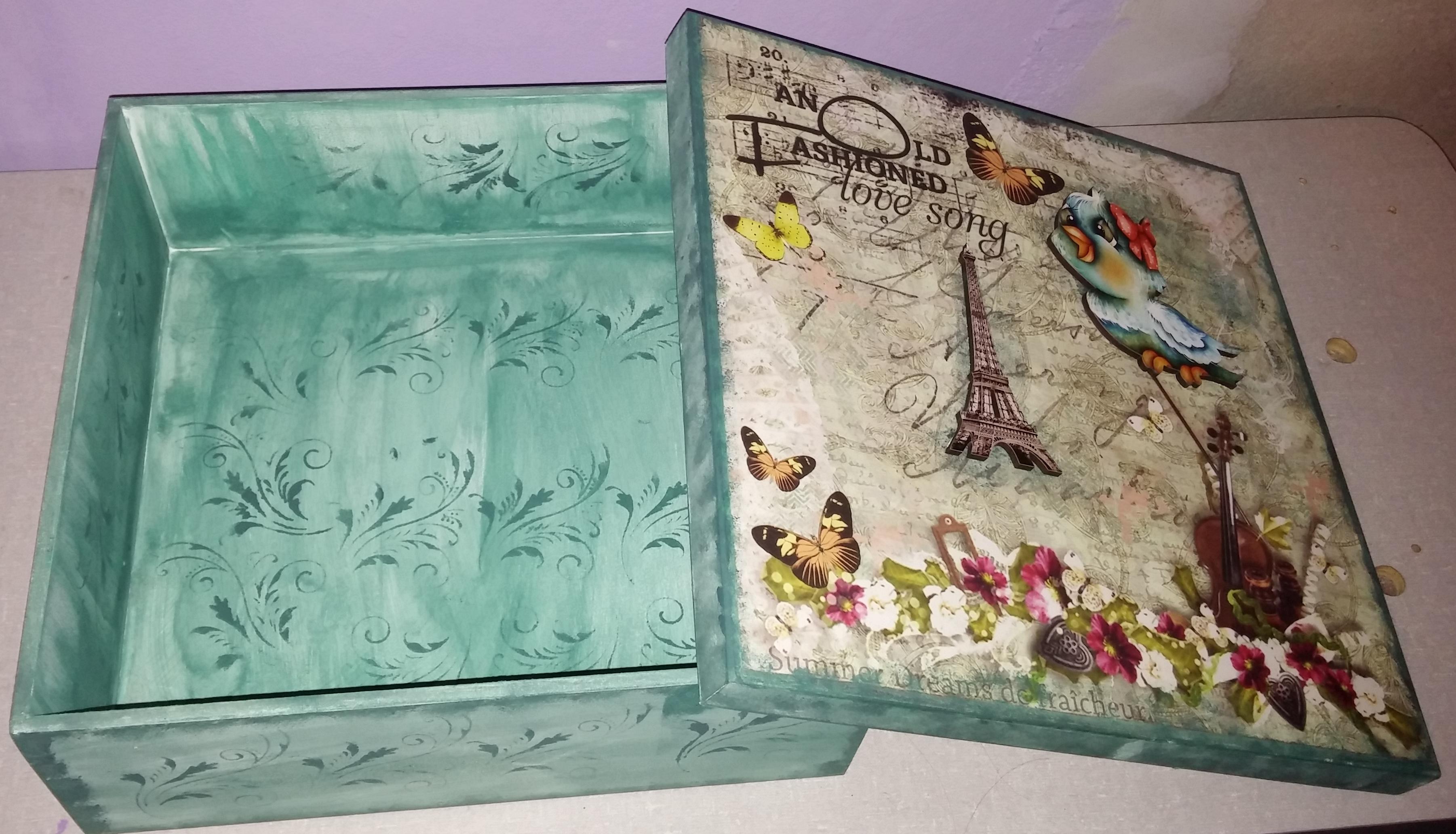 caixa vintage caixa mdf #4D7E6F 3603x2064