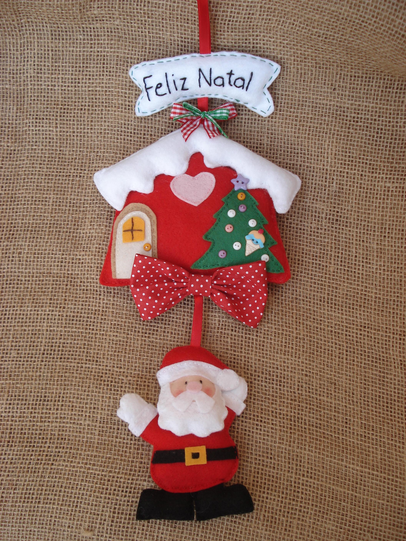Enfeite De Natal ~ Enfeite de Porta Natal Papai Noel Ateli u00ea Pati Rolim Elo7