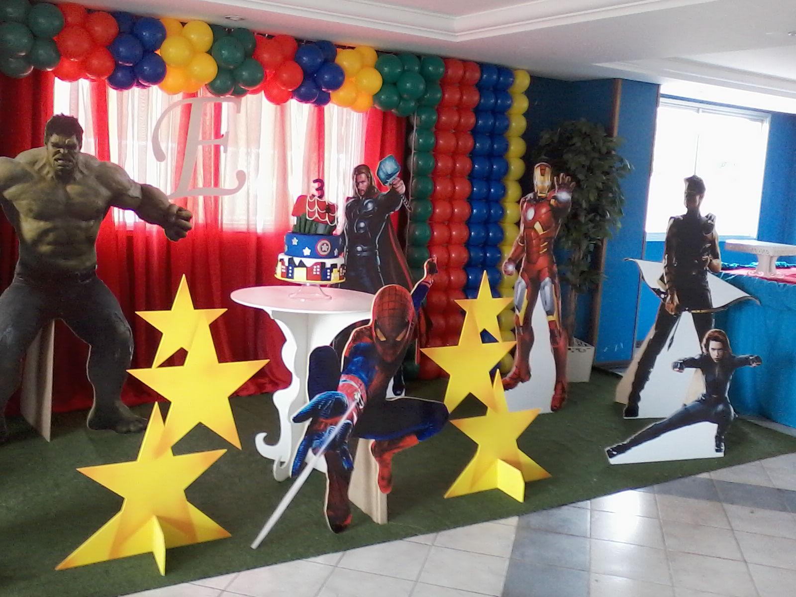 decoracao festa surpresa : decoracao festa surpresa:Decoração Vingadores Decoração Vingadores Decoração Vingadores