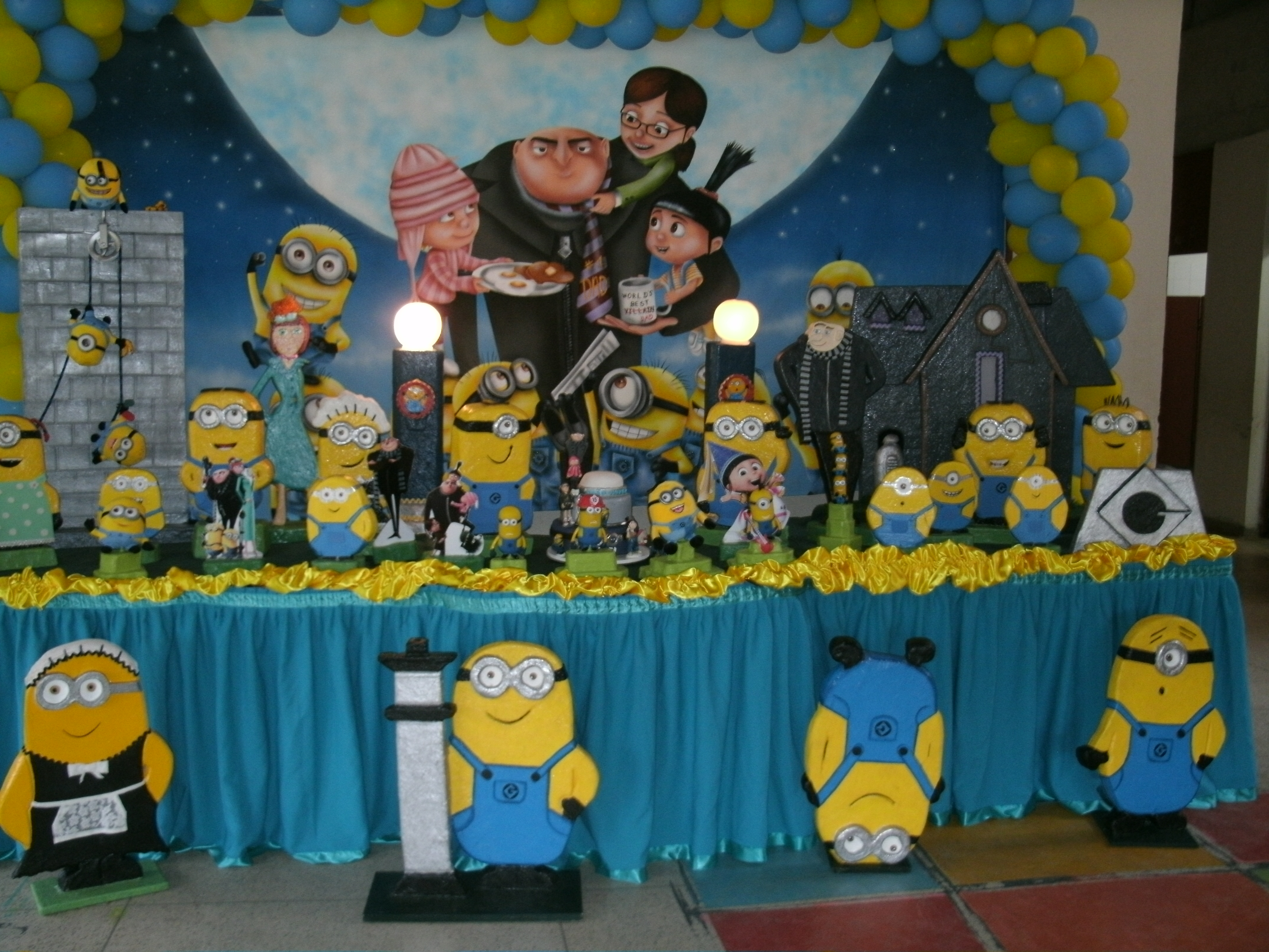 decoracao festa minions : decoracao festa minions:decoracao-de-festa-infantil-minions-decoracao-de-festa