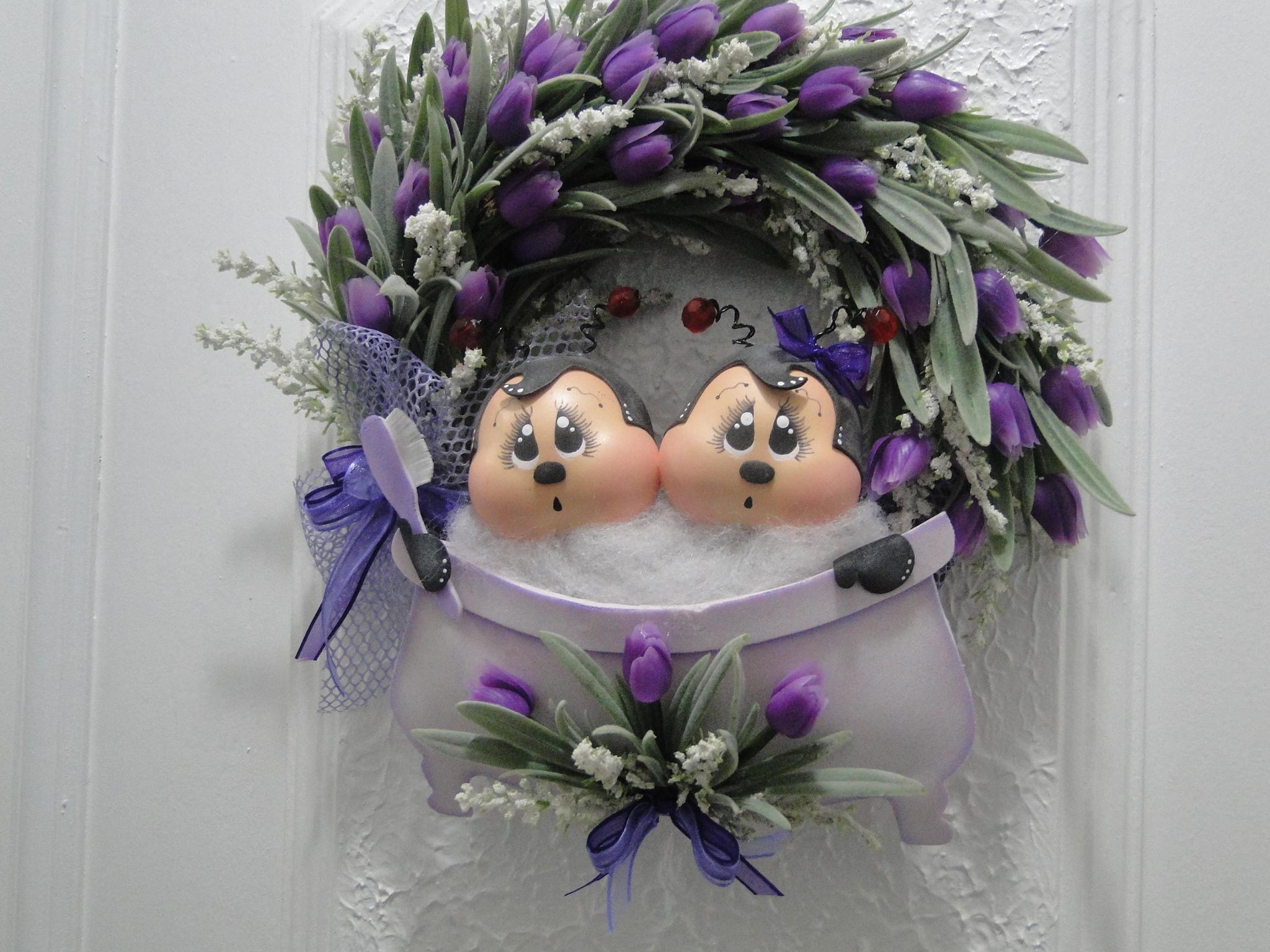 Enfeite de Porta  Banheiro  Moniks Arte em eva  Elo7 -> Decoracao Para Porta De Banheiro Em Eva
