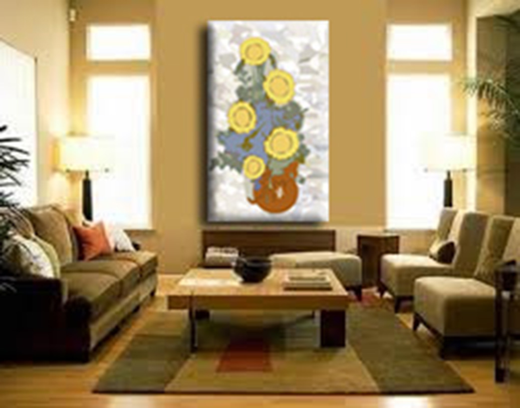 Quadro sala de estar ou jantar girassol andreia farias for Sala de estar sala de jantar