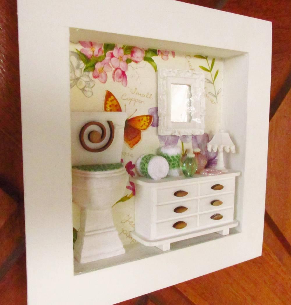 Banheiro Vaso Sanitario com Mesa  Elo7 -> Armario Banheiro Vaso Sanitario