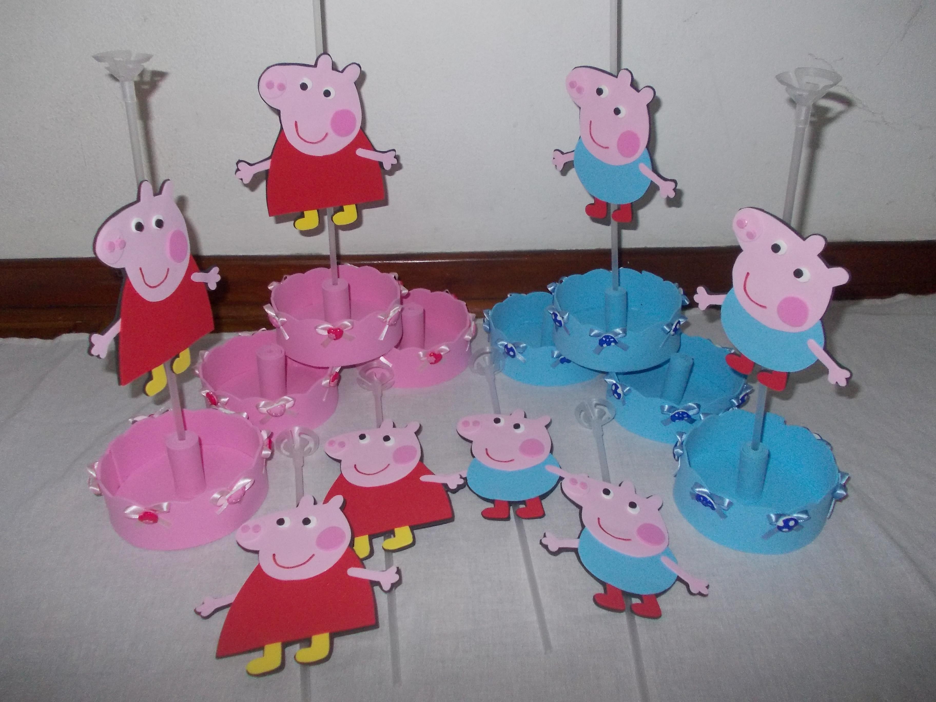 Peppa pig centro de mesa da peppa pig cachepot peppa pig for Mesa de peppa pig