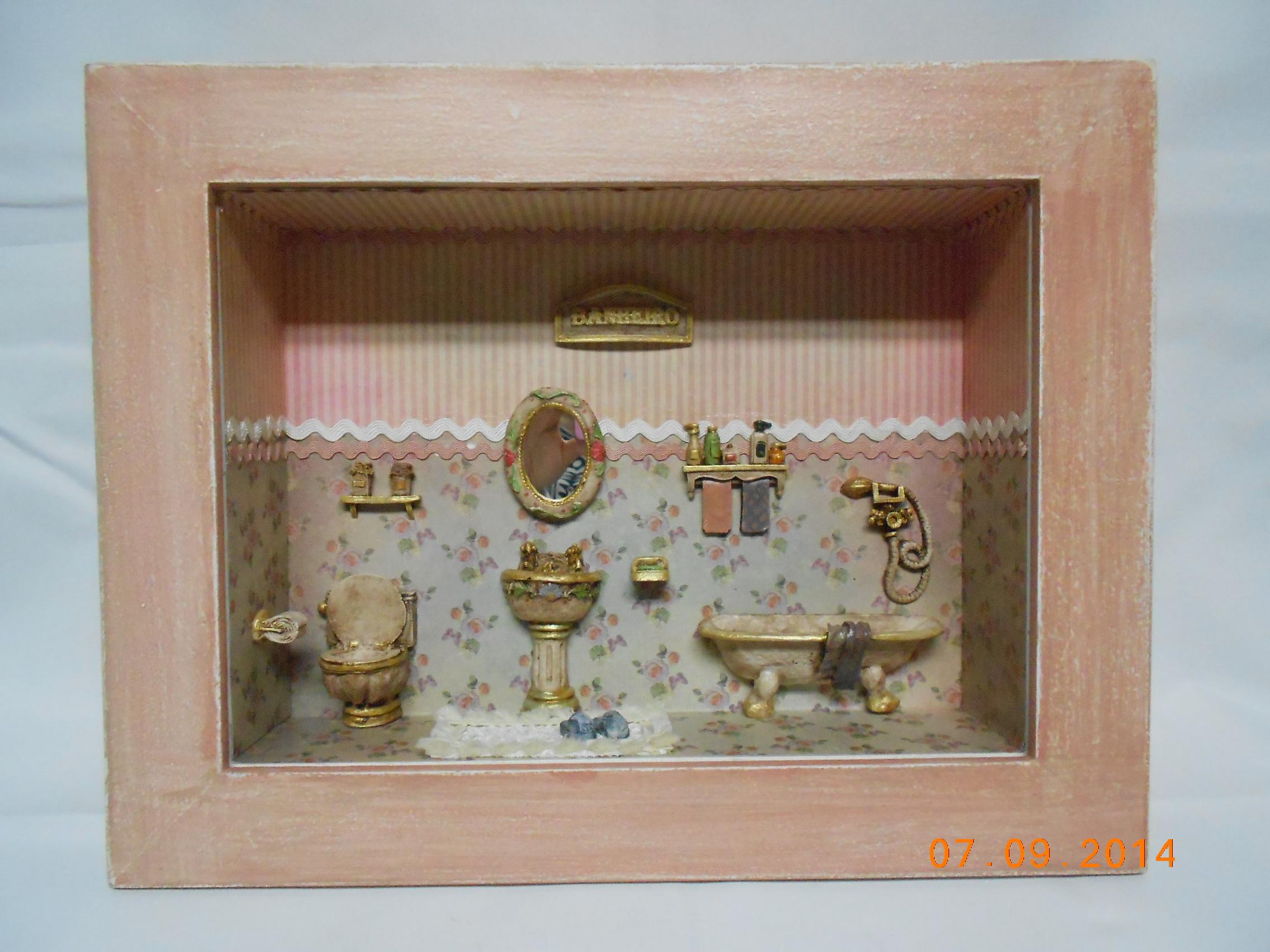 cenario banheiro vintage decoupagem cenario banheiro vintage  #B15F1A 2272x1704 Banheiro Americano