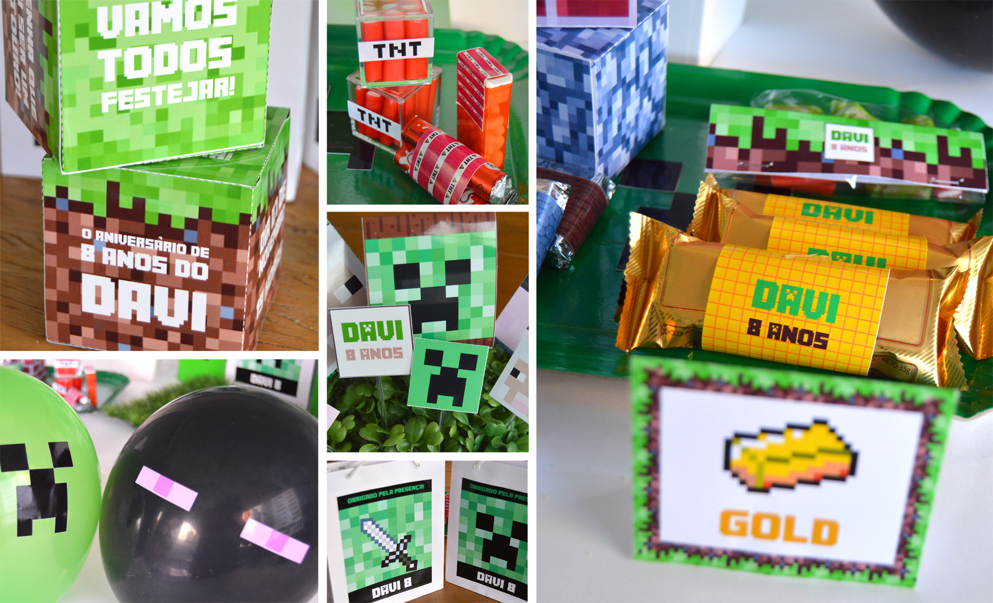 festa minecraft painel simples