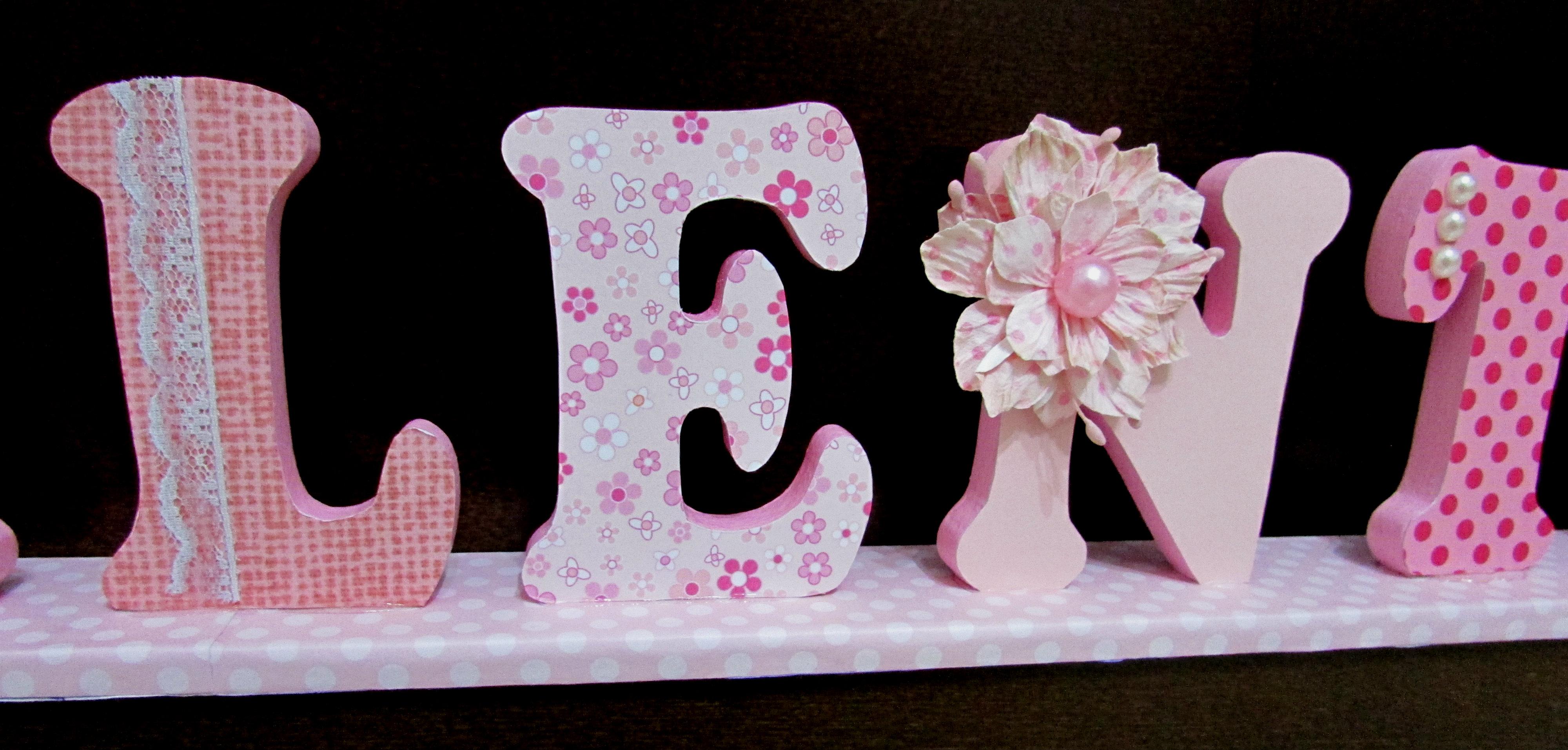 Letra decorada em mdf (12 00 a letra) Tutti Belli Artesanatos Elo7 #B01B46 4000x1913