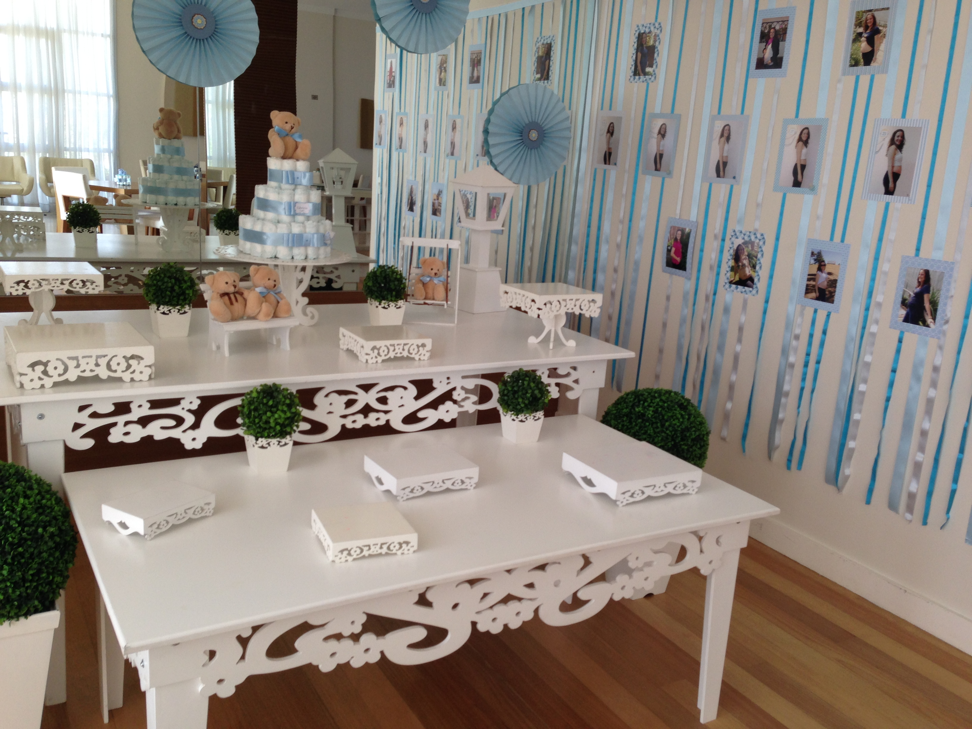 Menina mesa decorada ch de beb mesa decorada car interior design
