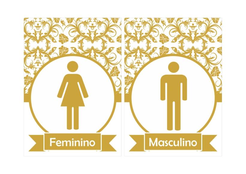 Placas de banheiro fem e mas -> Banheiro Feminino E Masculino Para Imprimir
