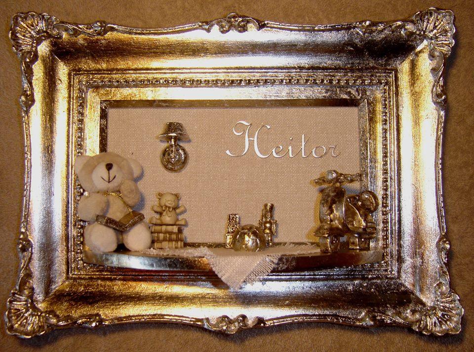 Quadro De Urso Para Quarto De Bebe ~ quadro star folha de prata p quarto urso decoracao de quarto de bebe