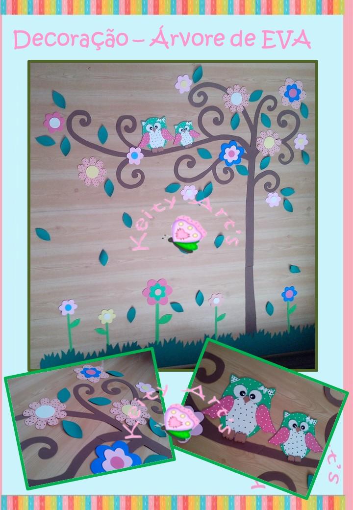 decoracao de sala aula em eva : decoracao de sala aula em eva: em eva flores decoracao de sala em eva arvore decoracao de sala em eva