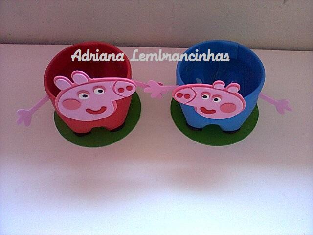 Lembrancinha Peppa Pig Na Pet Garrafa