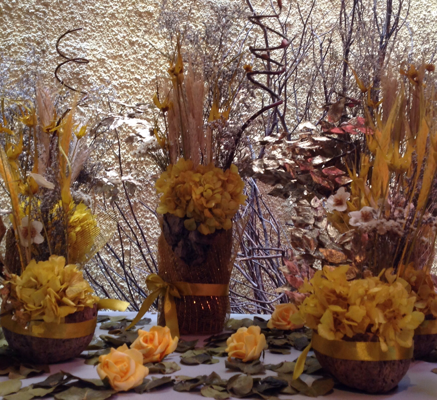 decoracao festa rustica:kit-festa-dourada-flores-secas-kit-festa-flores-secas kit-festa