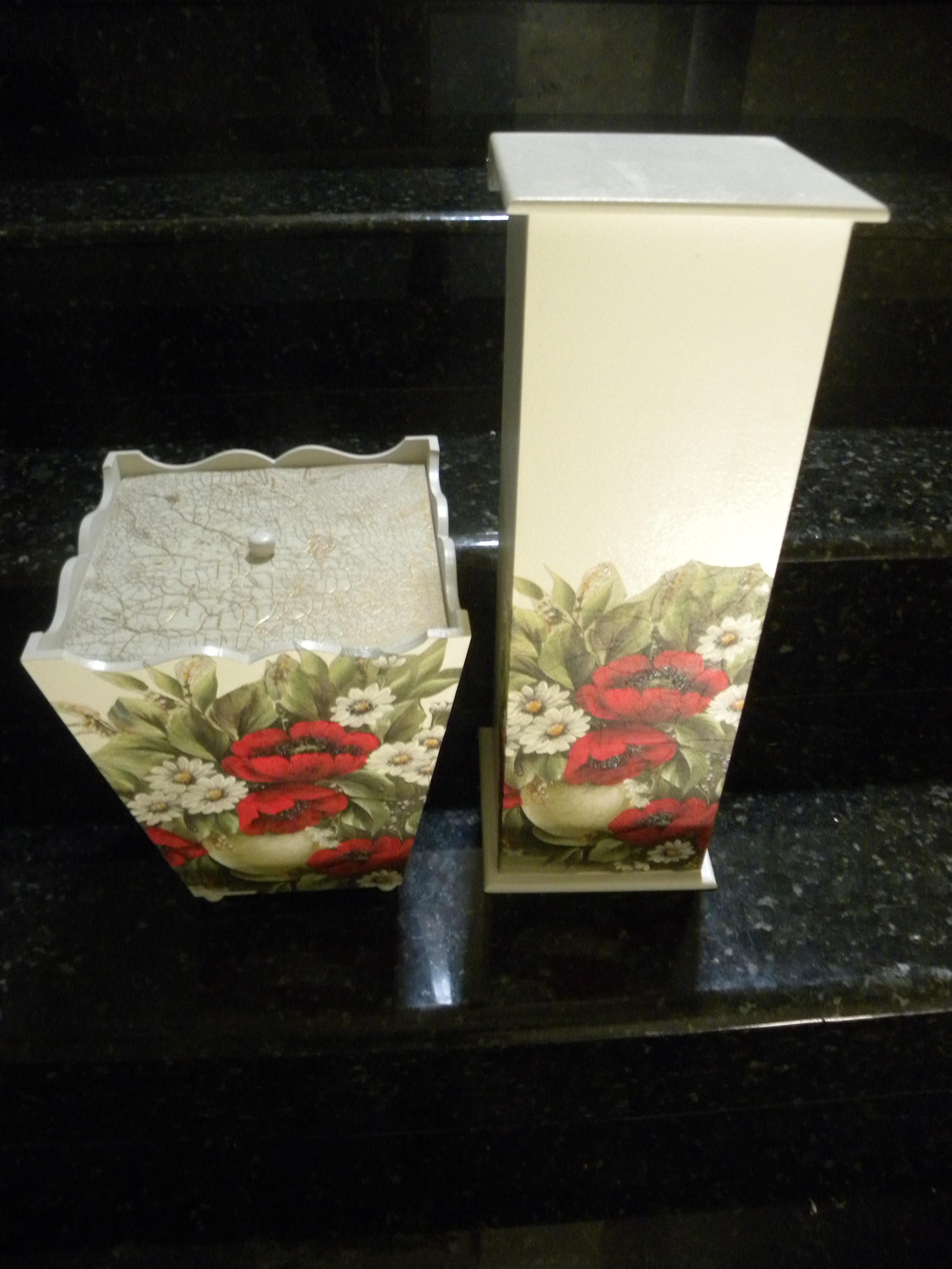 kit banheiro lixeira e suporte papel kit banheiro lixeira e suporte  #A0332B 3000 4000