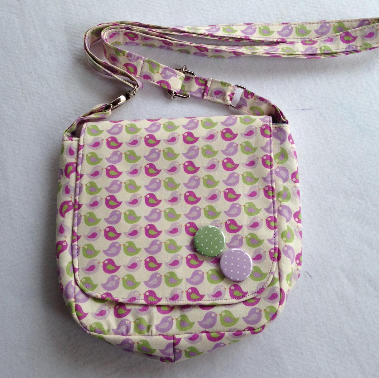 Bolsa De Tecido Tiracolo Passo A Passo : Bolsa tiracolo quot passarinhos criando e recriando kicuti