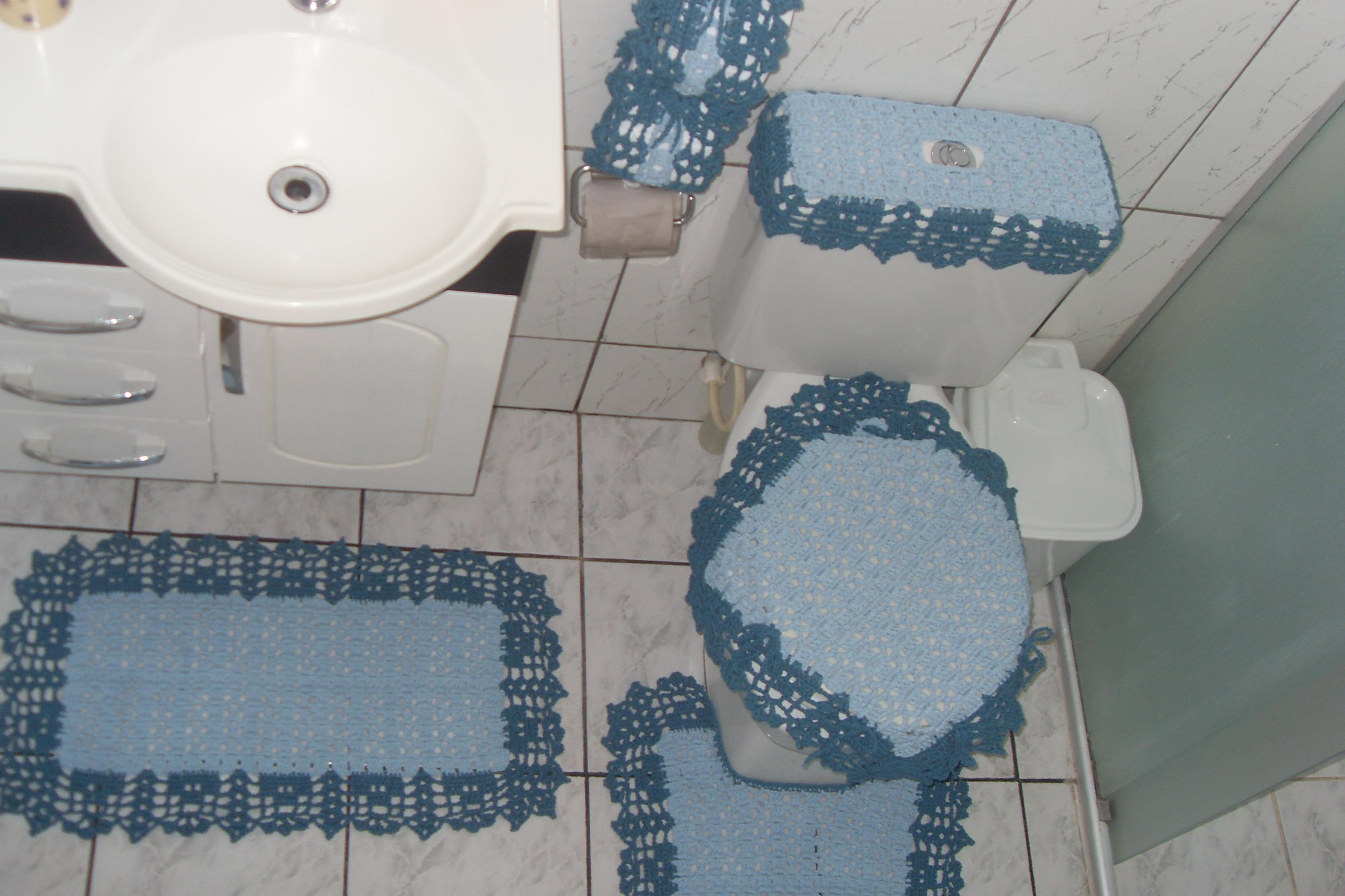 jogo de banheiro azul azul jeans decoracao jogo de banheiro azul azul #354C5D 3264x2176 Banheiro Azul