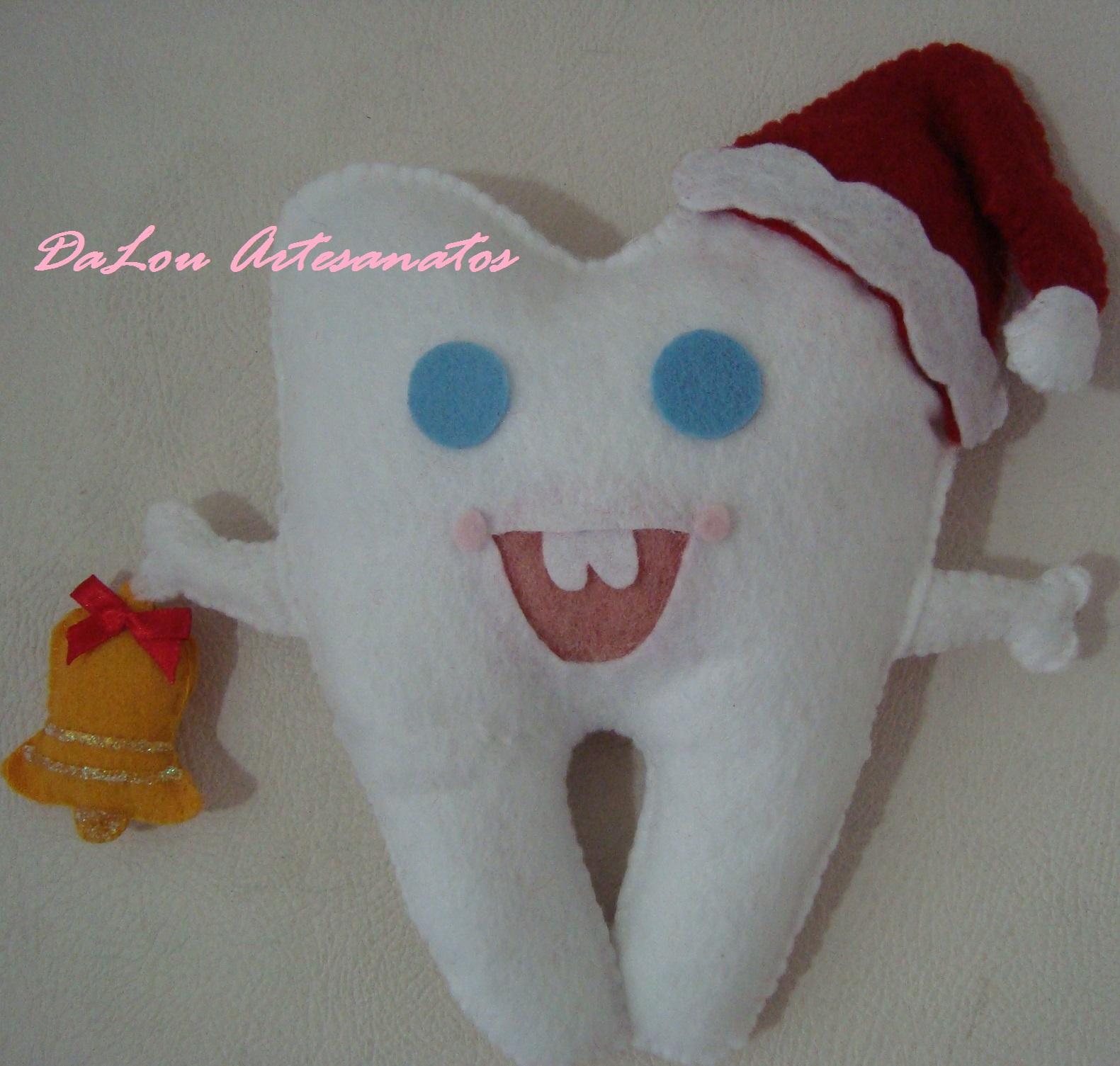 Artesanato Tecido Franzido ~ Enfeite Dente de Natal para Porta DaLou Artesanatos Elo7