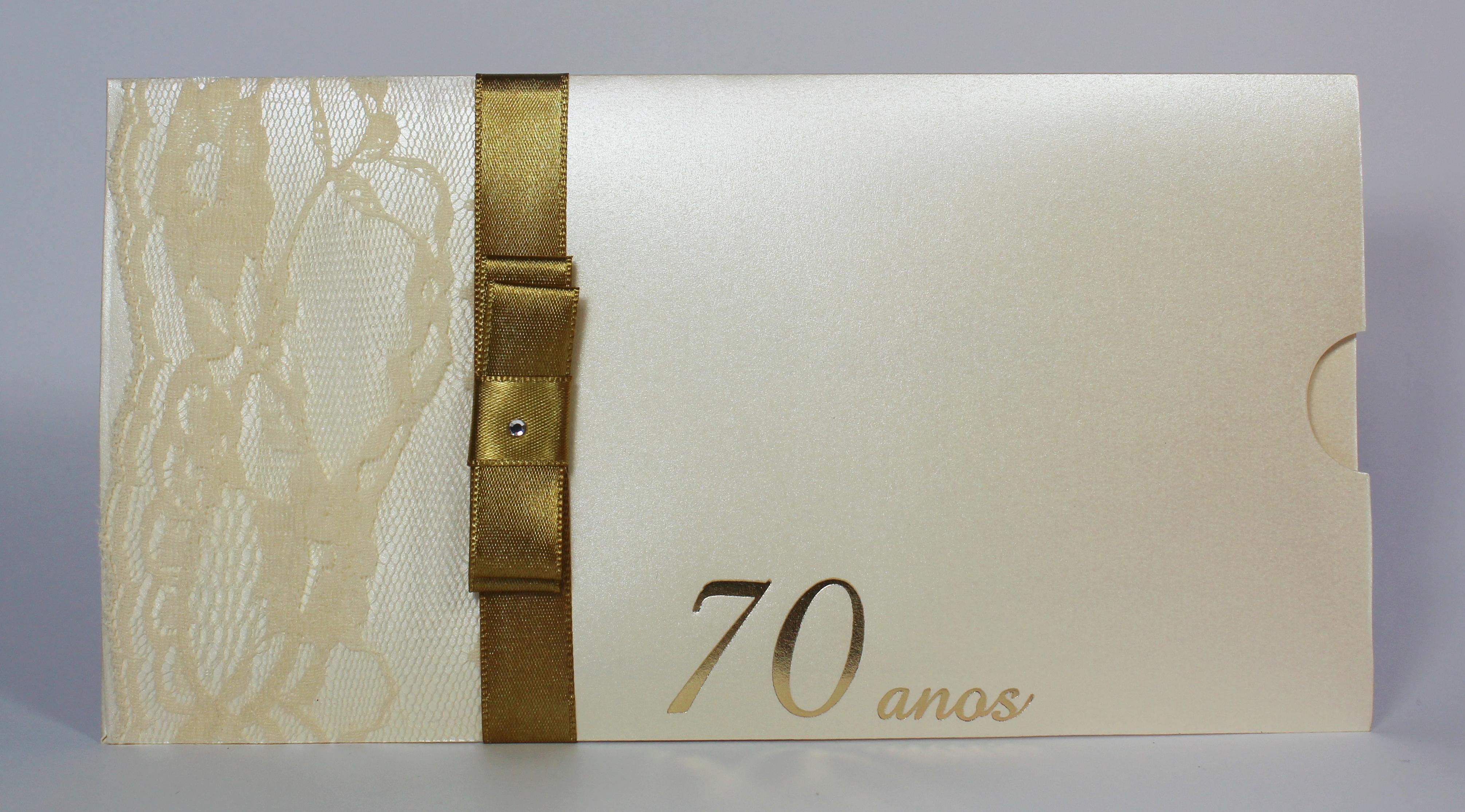 Convite Aniversario 70 Anos Feminino Aniversário 70 Anos | Elo7