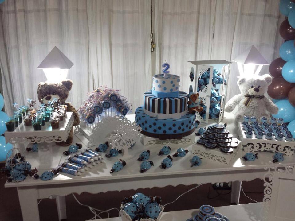 decoracao festa urso azul e marrom:azul e marrom azul e marrom decoracao urso azul e marrom cha de bebe