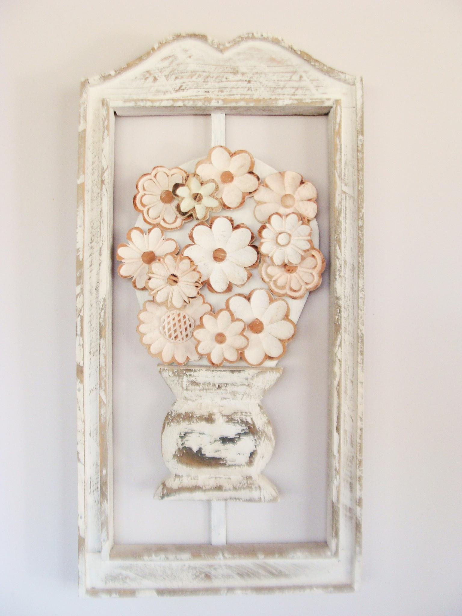 Aparador Wengue Conforama ~ Quadro flor de madeira Michael Ferreira Elo7