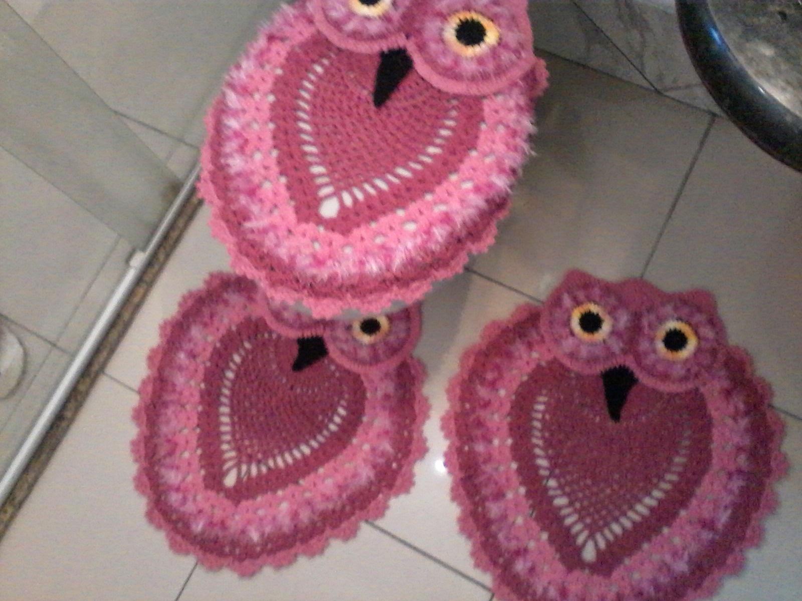 jogos de banheiro em croche tapetes de croches jogos de banheiro em ...