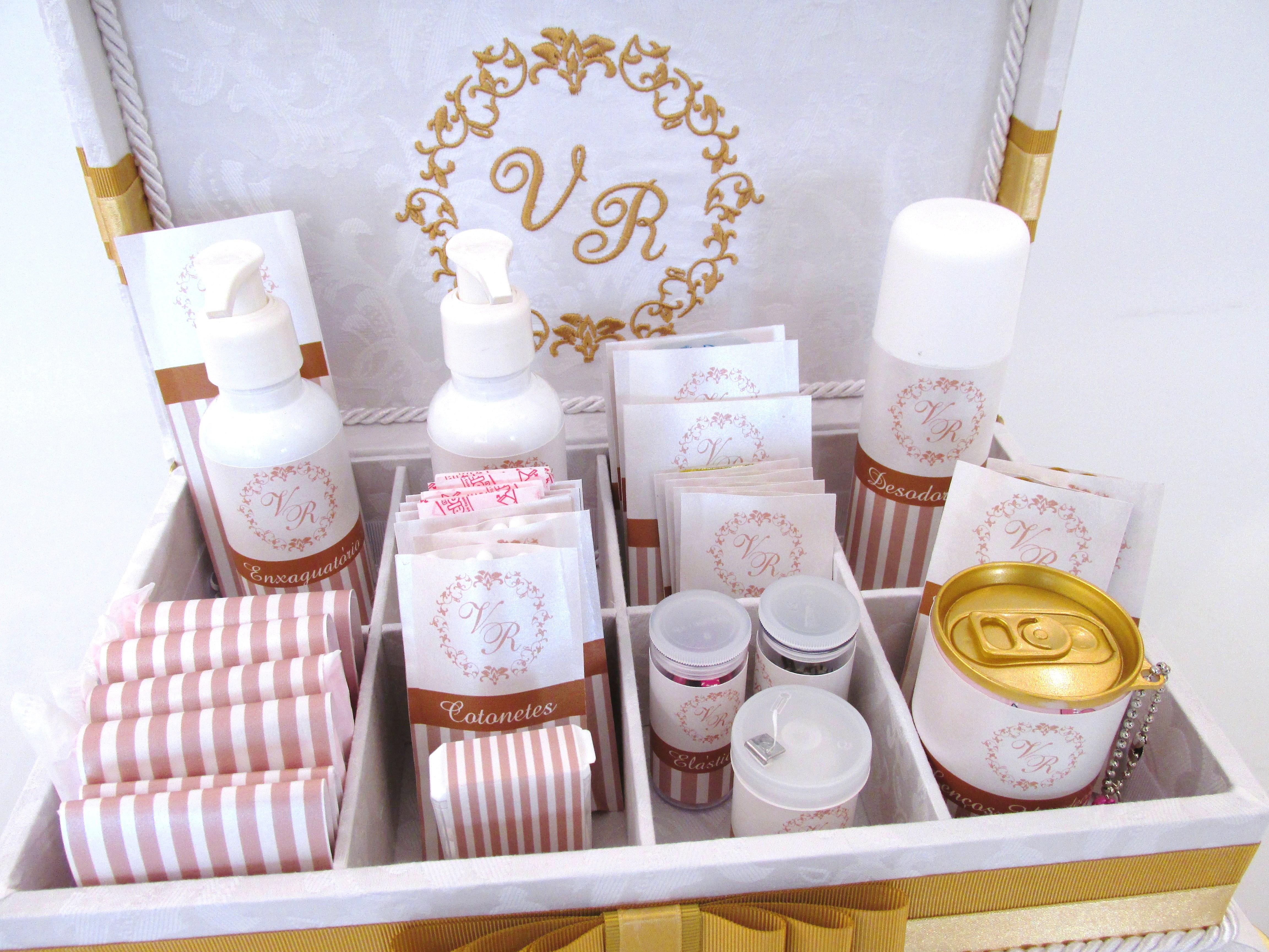Caixa Kit Banheiro para casamento Caixa Kit Banheiro para casamento #986B31 4608 3456