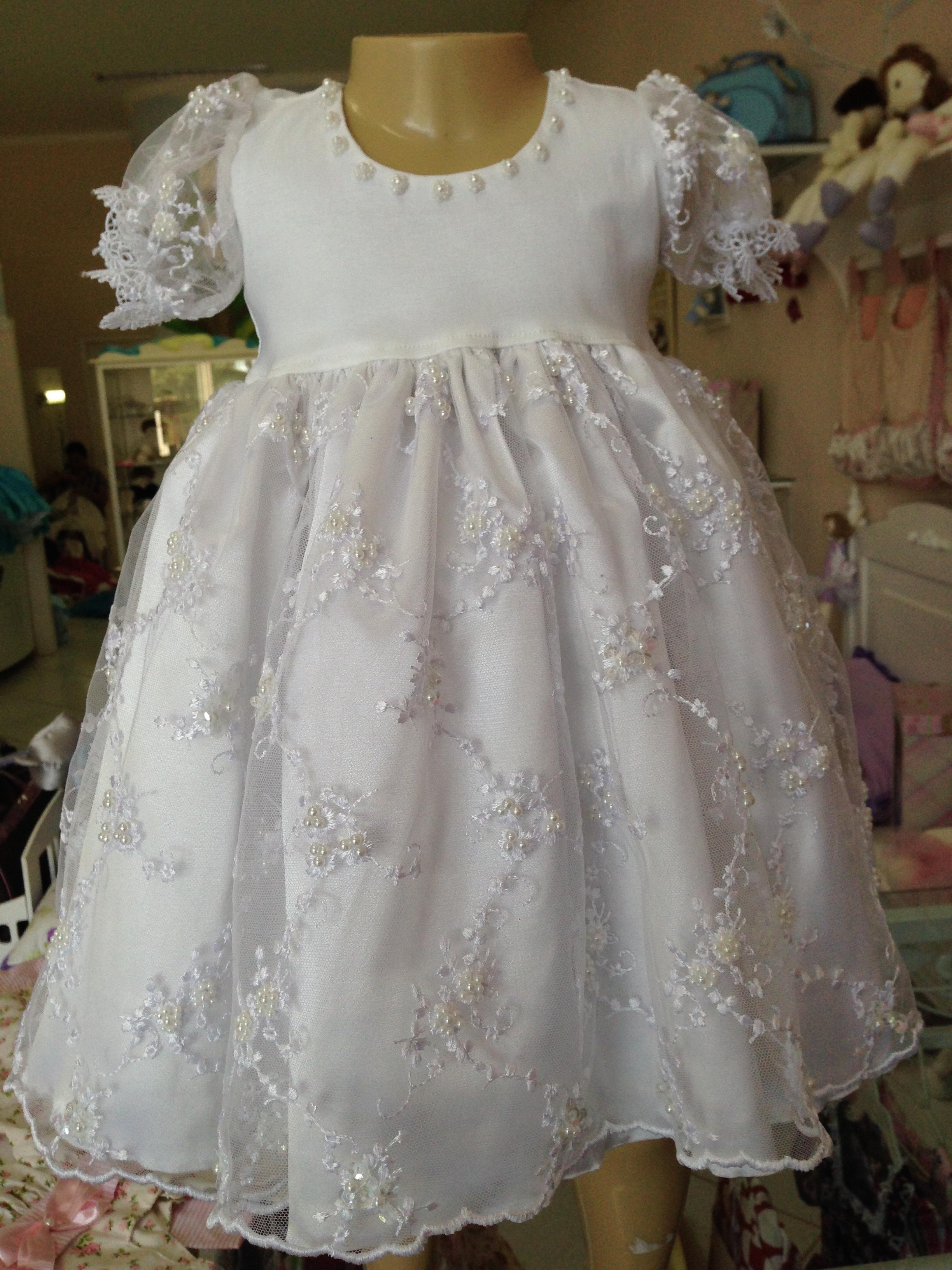 Vestido batizado super luxo renda guipir dalili store baby elo7 - Bebe ontwerp ...
