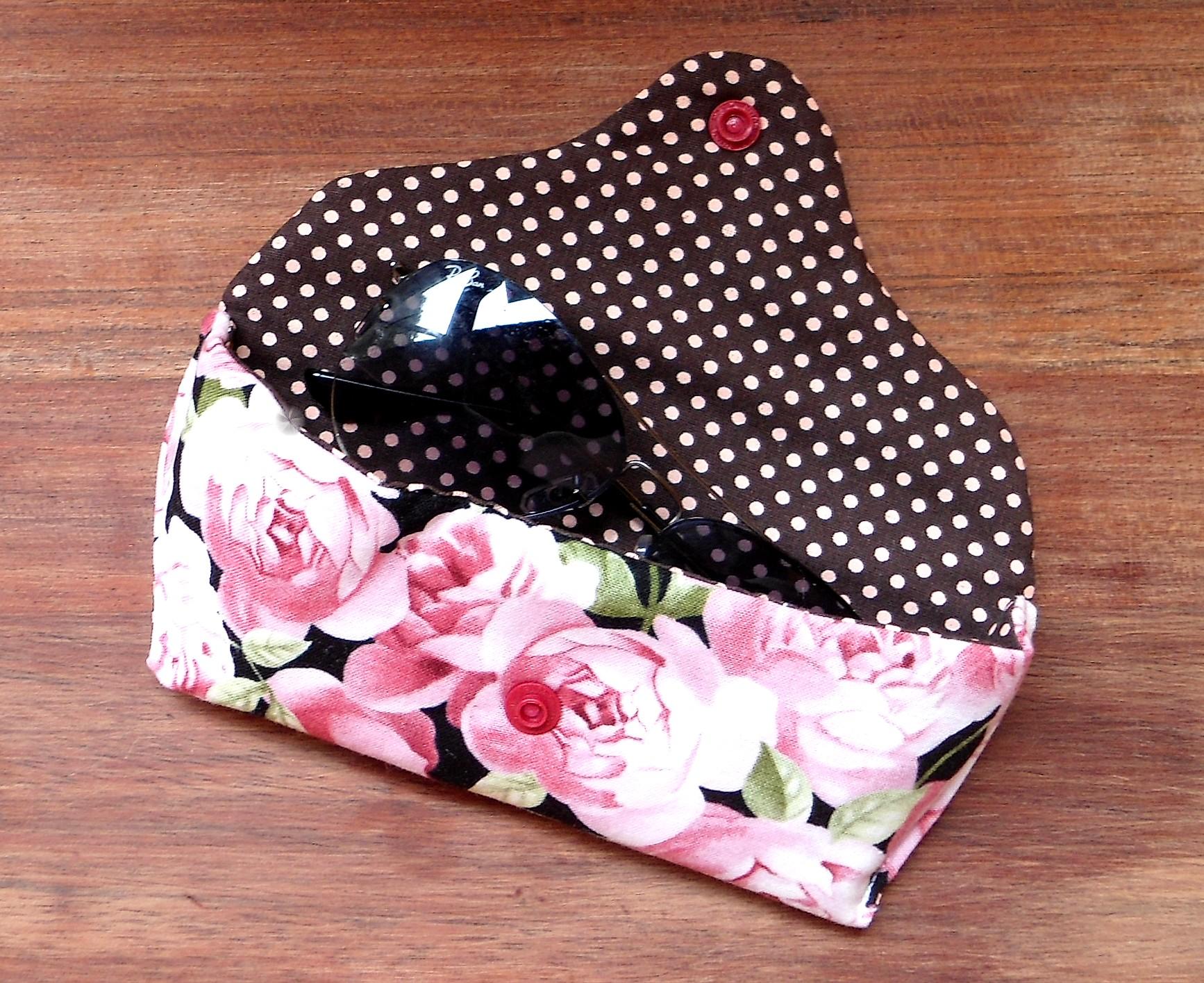 Porta culos rosas afinaldecontas acessorios handmade for Porta oculos