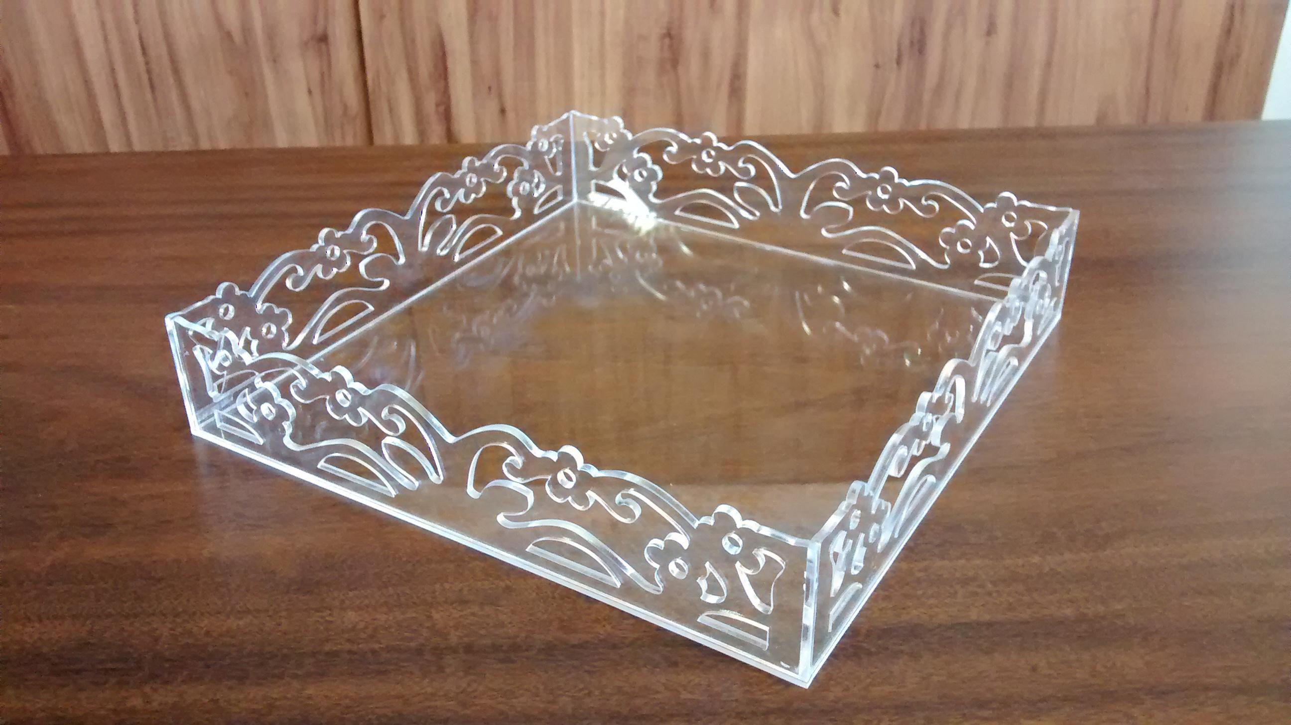 Bolsa De Festa De Acrilico : Bandeja de acr?lico cristal kuka legal artesanatos elo