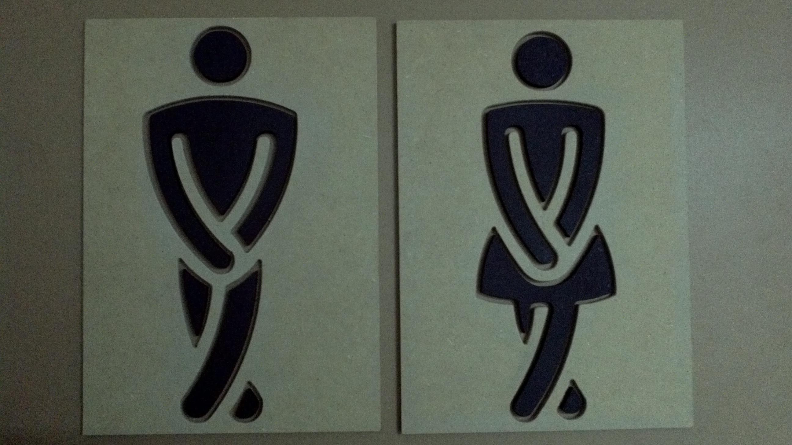 Placa De Banheiro Feminino E Masculino (  bruna lucia  Elo7 # Banheiro Feminino E Banheiro Masculino
