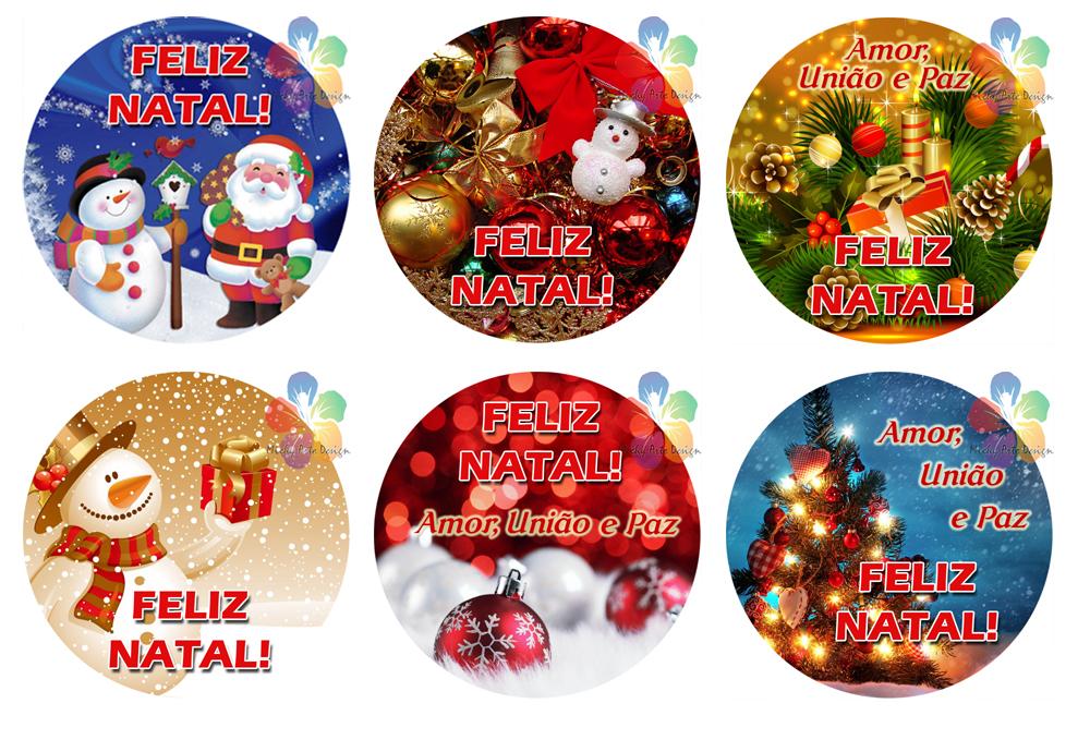 Aparador Sala De Jantar ~ Rótulos Adesivos Redondos Natal Michy Arte Design Elo7