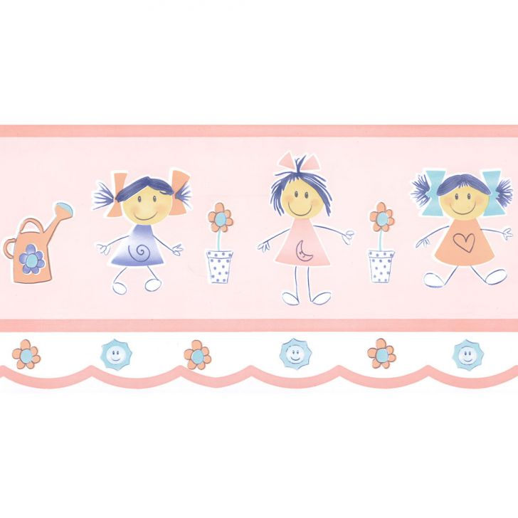Faixa papel de parede figuras 5540 anna decor elo7 - Papel infantil para pared ...