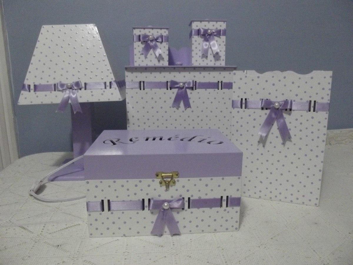 Aparador Hemnes Ikea Segunda Mano ~ Kit higiene em MDF decorado Atelier Mary Artesanatos e Lembrançinhas Elo7