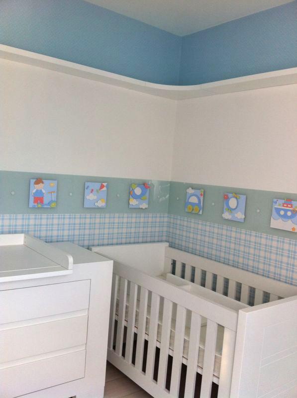 Quarto Bebê Azul Meios de Transporte  O Canto das Artes  Elo7