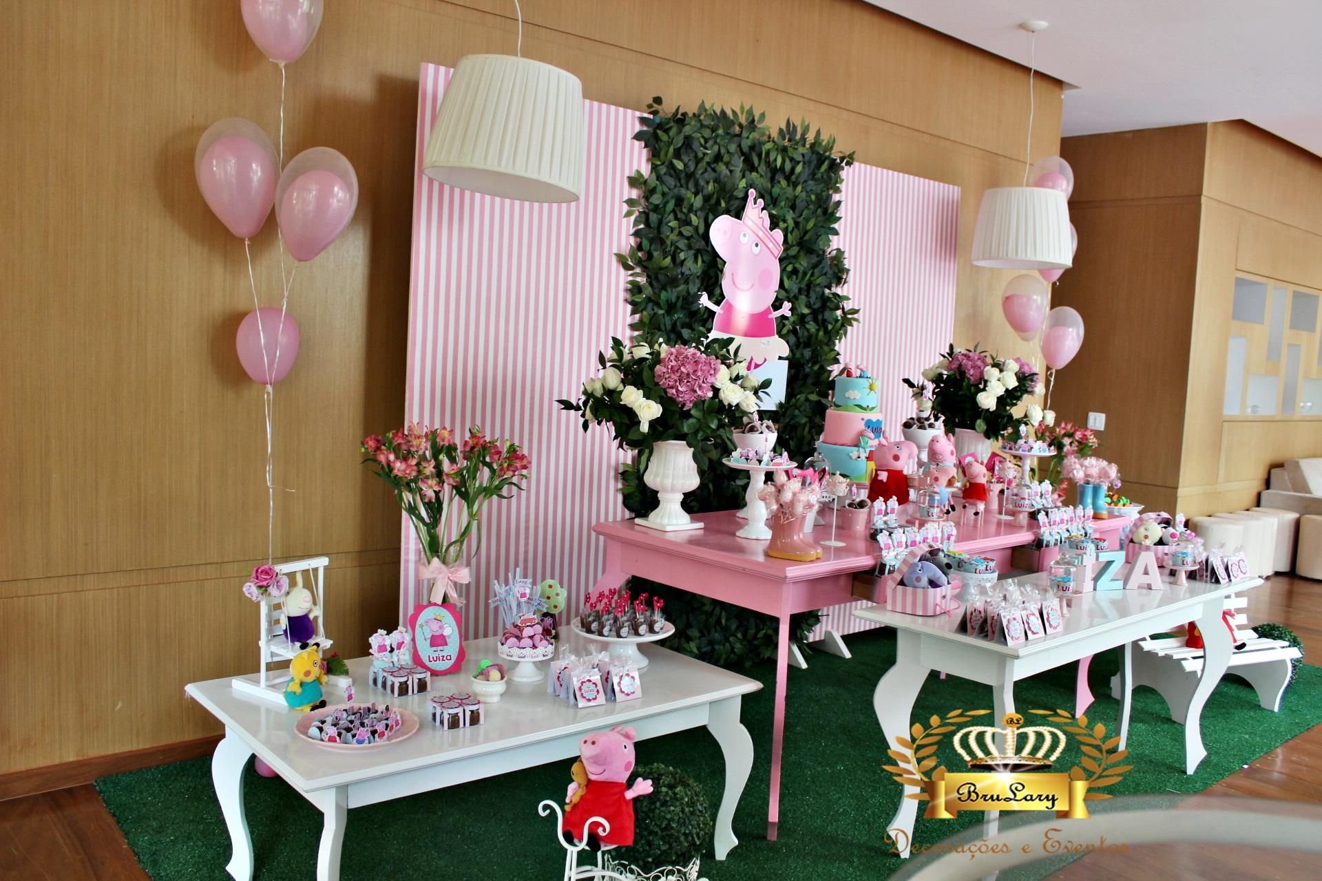 mesa jardim promocao:Decoração Peppa Pig -Promoção P Locação