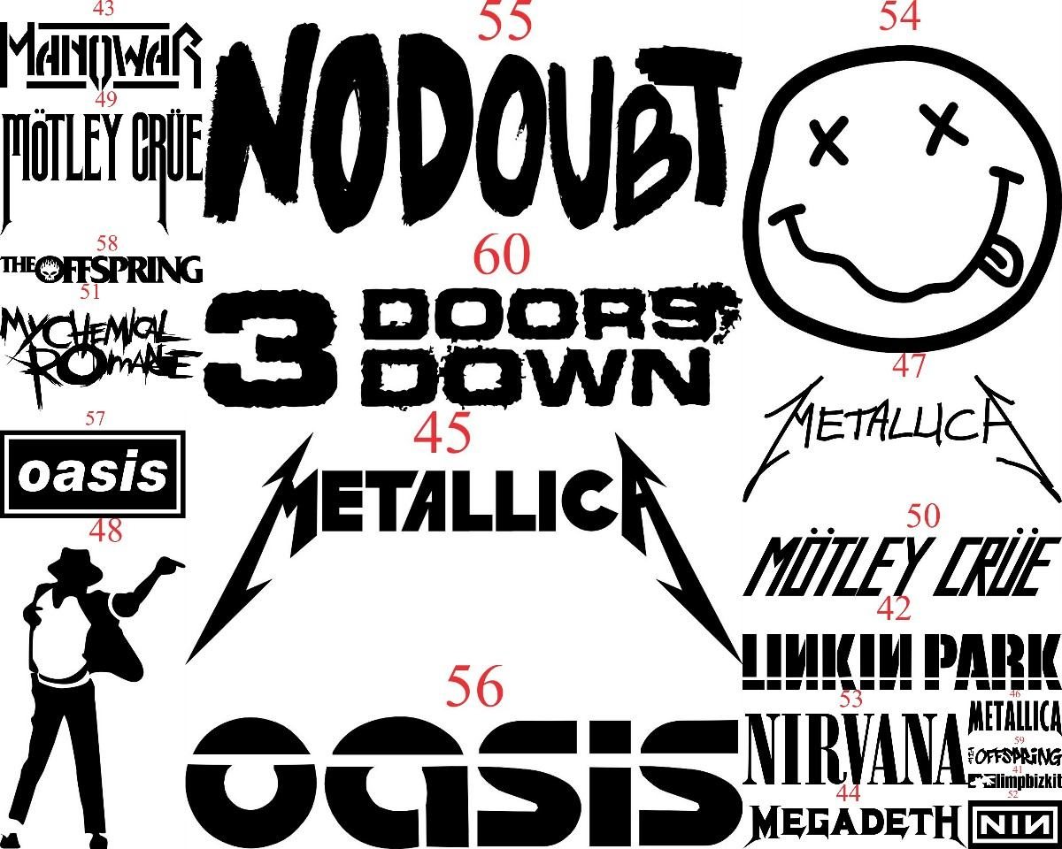Adesivo bandas de rock heavy metal todas queen ind stria - Bandas protectoras de paredes ...
