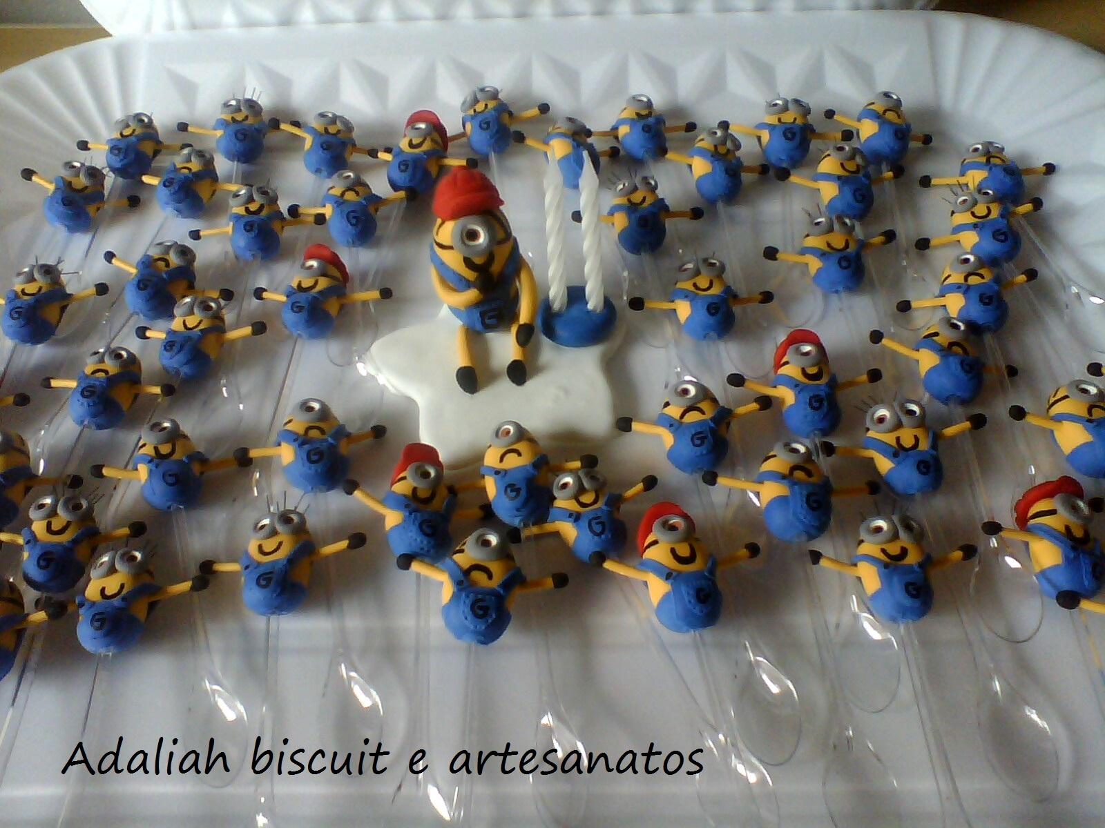 Armario Oficina Bajo ~ Kit colher mínions em biscuit Adaliah Biscuit e artesanatos Elo7